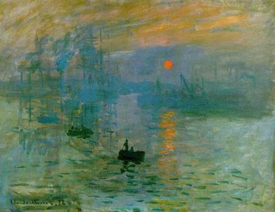 Claude Monet. Impression soleil levant (1872)