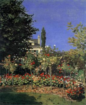 Claude Monet. Jardin en fleurs à Sainte-Adresse (1866)