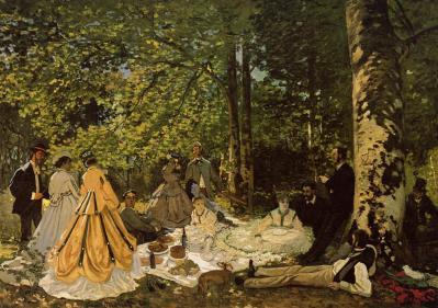 Claude Monet. Le déjeuner sur l'herbe, étude (1865)
