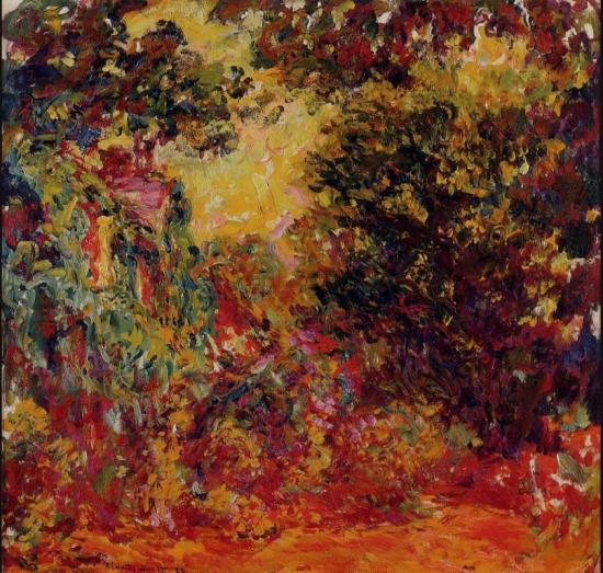 Claude Monnet. La maison de l'artiste vue de la roseraie (1922-24)