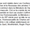 Rousseau et l'homosexualité