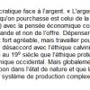 Rousseau et l'argent