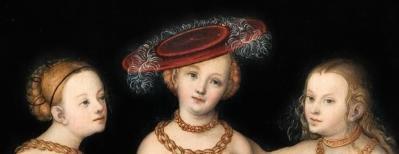 Cranach l'Ancien. Les Trois Grâces, détail