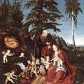 Cranach l'Ancien. Le repos pendant la fuite en Égypte (1504)