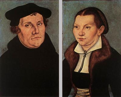 Cranach l'Ancien. Martin Luther et Katharina von Bora (1529)