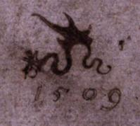 Cranach l'Ancien. Signature