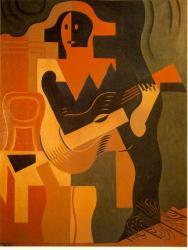 Juan Gris. Arlequin assis à la guitare, 1919