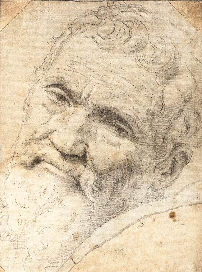 Portrait De Michel Ange 1550 1555