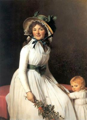 Jacques-Louis David. Portrait d'Émilie Sériziat et son fils (1795)