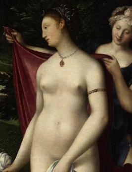 Diane au bain, détail. La déesse Diane