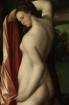 Diane au bain, détail. Marie Stuart en nymphe