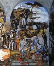 Diego Rivera. L'histoire du Mexique, détail 2 (1929-51)