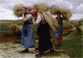 Julien Dupré. Les porteuses de gerbes (1880)