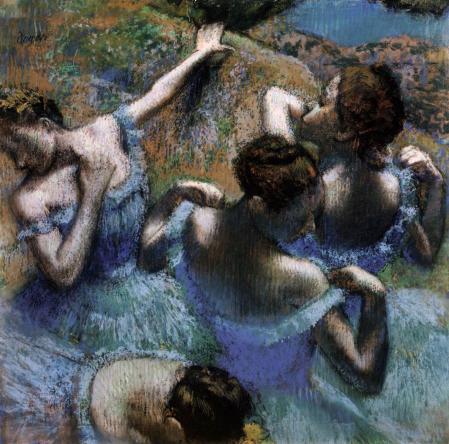 Edgar Degas. Danseuses en bleu (v. 1899)