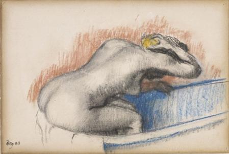 Edgar Degas. Femme se lavant dans sa baignoire (v. 1892)