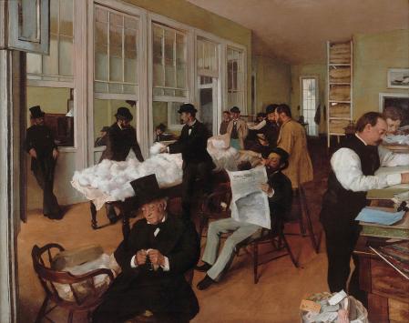 Edgar Degas. Le Bureau de coton à La Nouvelle-Orléans (1873)