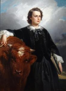 Edouard-Louis Dubufe et Rosa Bonheur. Portrait de Rosa Bonheur (1857)