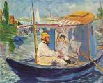 Edouard Manet. Claude Monet peignant dans son atelier (1874)