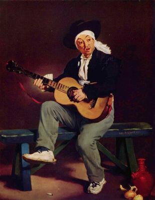 Édouard Manet. Le chanteur espagnol (1860)