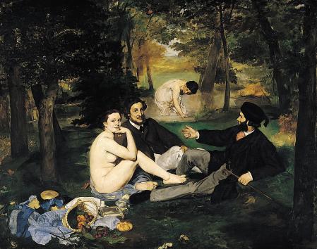 Édouard Manet. Le déjeuner sur l'herbe (1862)