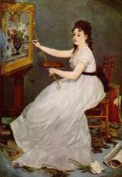 Edouard Manet. Portrait d'Eva Gonzalès (1870)