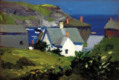 Edward Hopper. Monhegan Houses, Maine (1916-19)