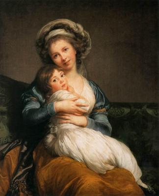 Elisabeth Vigée Le Brun. Madame Vigée Le Brun et sa fille Julie (1786)