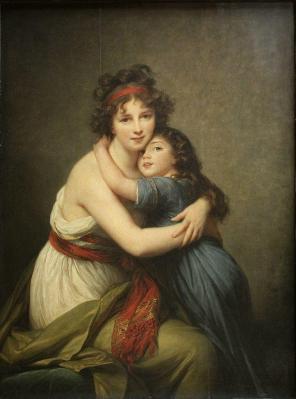 Elisabeth Vigée Le Brun. Madame Vigée Le Brun et sa fille Julie (1789)