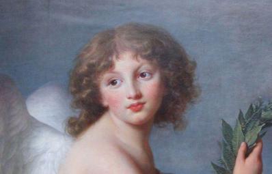 Élisabeth Vigée Le Brun. Prince Henryk Lubomirski en Amour de la gloire, détail