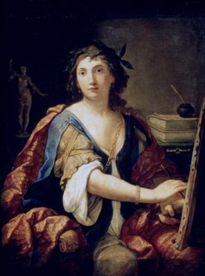 Elisabetta Sirani. Allégorie de la peinture. Autoportrait (1658)