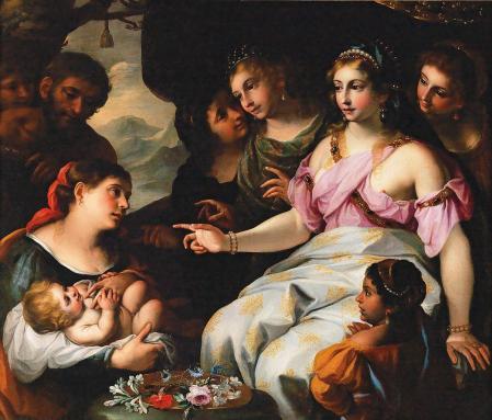 Elisabetta Sirani. Moïse sauvé des eaux (1660-65)