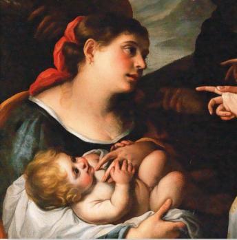 Elisabetta Sirani. Moise sauvé des eaux, détail