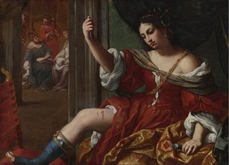 Elisabetta Sirani. Portia se blessant à la cuisse (1664)