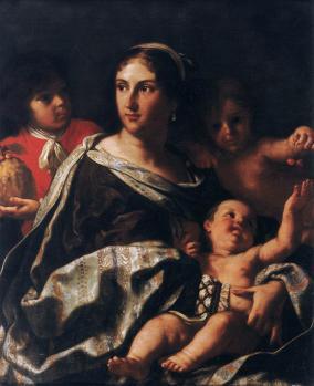 Elisabetta Sirani. Portrait d'Anna Maria Marsigli en Charité (1665)