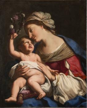 Elisabetta Sirani. Vierge à l'enfant (1663)