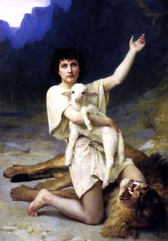 Elizabeth Jane Gardner Bouguereau. Le berger David (v. 1895)