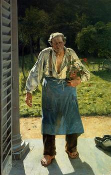 Émile Claus. Le vieux Jardinier (1885)
