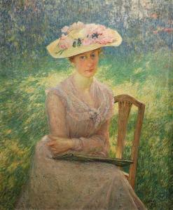 Émile Claus. Portrait de Jenny Montigny (1902)