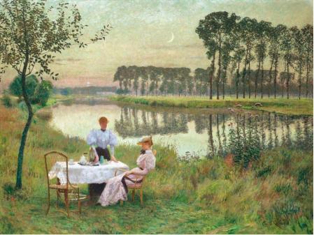 Émile Claus. Soir d'été en Belgique (1895)