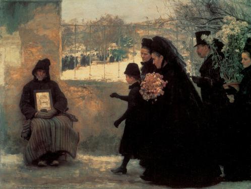 Emile Friant. La Toussaint (1888)