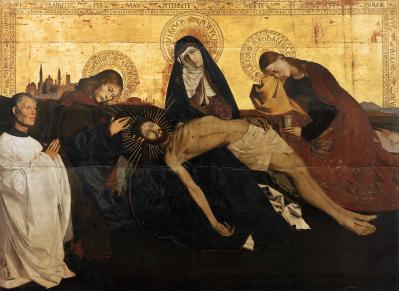 Enguerrand Quarton. Pietà de Villeneuve-lès-Avignon (1454-56)