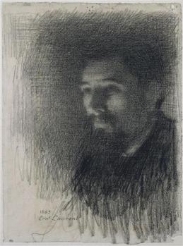 Ernest Laurent. Portrait de Georges Seurat (1883)