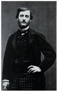 Etienne Carjat. Portrait de Frédéric Bazille (1865)