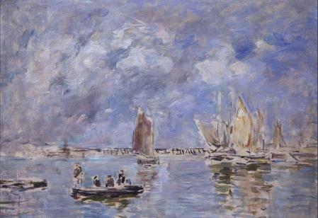 Eugène Boudin. Barques et estacade (1890-1897)