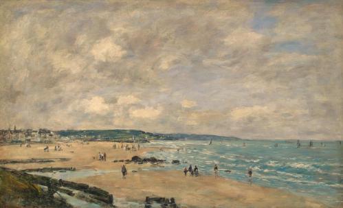 Eugène Boudin. La plage à Trouville (1893)