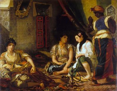 Eugène Delacroix. Femmes d'Alger dans leur appartement (1834)