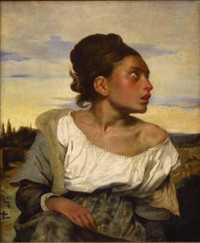 Eugène Delacroix. Jeune orpheline au cimetière (1824)