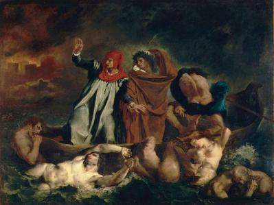 Eugène Delacroix. La Barque de Dante (1822)