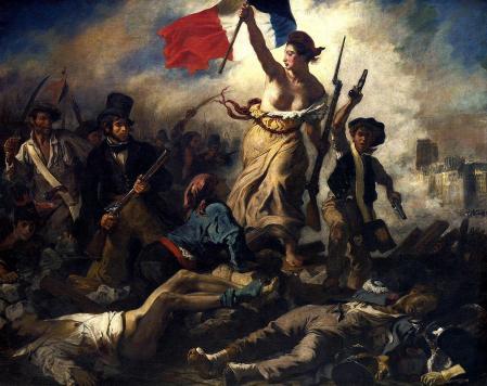 Eugene Delacroix. La liberté guidant le peuple (1830)