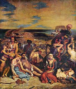 Eugène Delacroix. Scène des massacres de Scio (1824)